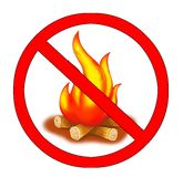 No fire. Illustration of a signal that indicate no fire Royalty Free Stock Photo