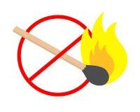 No fire. Sign design of no fire Stock Photos