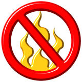 No Fire Stock Photography