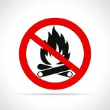 No fire circle red sign. Illustration of no fire circle red sign Royalty Free Stock Image
