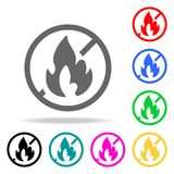 No fire icon. Element firefighters multi colored icons for mobile concept and web apps. Icon for website design and development, a. Pp development. Premium icon Royalty Free Stock Photo