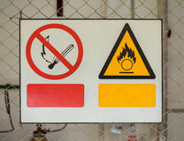 No fire sign and Fire warning signs Stock Photography