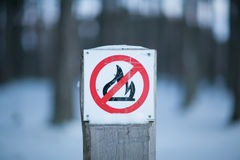 No Fire sign. Stock Photography
