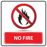 No fire sign Illustration. No fire danger sign Illustration Stock Photo