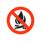 No fire sign -  illustration. Royalty Free Stock Image