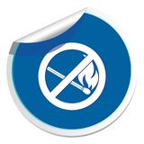 No Fire sign. Prohibition open flame symbol Royalty Free Stock Photo