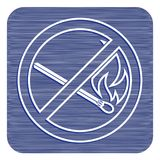 No Fire sign. Prohibition open flame symbol. Vector illustration Stock Photo