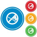 No Fire sign. Prohibition open flame symbol. Vector illustration Royalty Free Stock Image