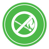 No Fire sign. Prohibition open flame symbol. Vector illustration Stock Image