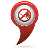 No Fire sign. Prohibition open flame symbol Royalty Free Stock Photography
