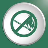 No Fire sign. Prohibition open flame symbol. Vector illustration Royalty Free Stock Photo