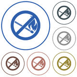 No Fire sign. Prohibition open flame symbol Stock Image