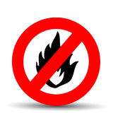 No fire sign. On a white background stock illustration