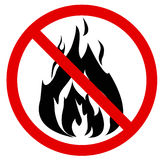 No fire. Vector illustration. Red No fire sign. Vector illustration - you can simply change color and size Royalty Free Stock Images
