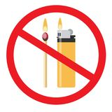 No fire vector sign. Stock flat vector illustration Royalty Free Stock Photography