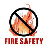 No fire vector sign Royalty Free Stock Images