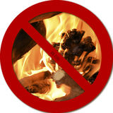 No fire. Warning of the prohibition of lighting a fire Royalty Free Stock Images