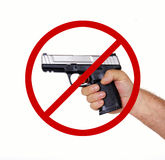 No firearms allowed. Gun-free zone. Firearms banned. No firearms permitted by law Stock Photos