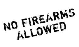No Firearms Allowed rubber stamp. Grunge design with dust scratches. Effects can be easily removed for a clean, crisp look. Color is easily changed Stock Photo
