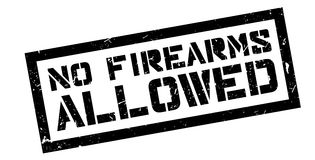 No Firearms Allowed rubber stamp. On white. Print, impress, overprint Royalty Free Stock Photo