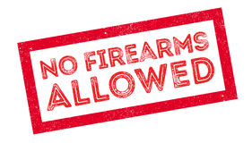 No Firearms Allowed rubber stamp. On white. Print, impress, overprint Royalty Free Stock Image
