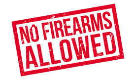 No Firearms Allowed rubber stamp. On white. Print, impress, overprint Stock Image