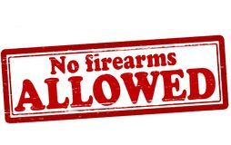 No firearms allowed. Stamp with text no firearms allowed inside,  illustration Stock Images