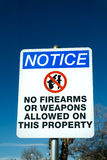 No Firearms or Weapons Sign Royalty Free Stock Images