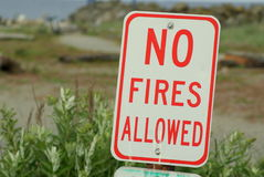 No Fires Allowed sign Royalty Free Stock Image
