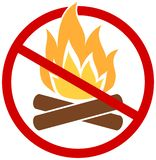 No fires icon. Stop fire vector illustration royalty free illustration