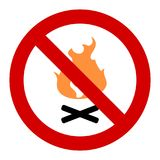 No fires Stock Photography