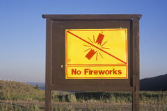 No fireworks sign Stock Photos