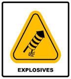 No Fireworks Vector warning icon Stock Photos