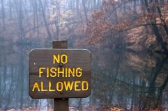No Fishing royalty free stock images