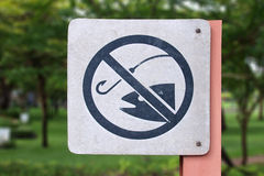 No fishing allowed sign Stock Images