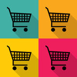 No fishing icons set great for any use. Vector EPS10.shopping cart icons set great for any use. Vector EPS10. Stock Image
