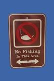 No fishing sign Royalty Free Stock Photo