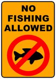 No Fishing Sign. No Fishing permitted sign - illustration sign Stock Photography