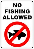 No Fishing Sign. No fishing allowed sign - illustration sign - defense de pecher Royalty Free Stock Images
