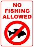 No fishing sign. No fishing allowed sign - illustration sign Stock Photo