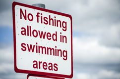 No fishing sign Royalty Free Stock Photography