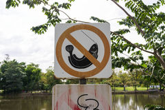 No Fishing Sign Stock Photography