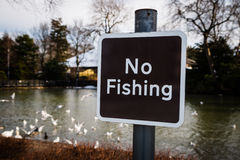 No Fishing Sign. Fishing is forbidden sign stock images