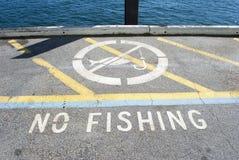 No fishing sign Stock Image