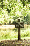 The No Fishing Sign Royalty Free Stock Photo