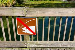 No fishing sign using pictograph format for universal global message Royalty Free Stock Photography