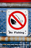 No fishing sign Stock Photos