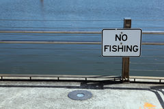 No fishing signage Stock Photos