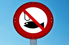 No fishing signal Stock Image