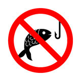 No fishing vector and icon, EPS10. 10 great for any use Stock Image